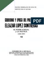 Tomo 19. Gobierno y época del presidente Eleazar López Contreras. El Poder Judicial y la política (1935-1941)
