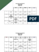 2011 Schedule of Classes