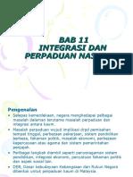 Bab 11 Integrasi Dan Perpaduan Nasional