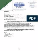 Congresswoman Karen Bass Letter on Mark Ridley-Thomas Motion