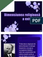 Dimensiunea religioasă a existenţei-XI filo