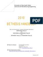 BE Thesis Handbook 2010