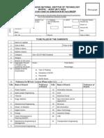 Mnit BhopalMTech Form