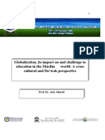World-COME2009_Globalization, its impact on and challenge to education in the Muslim world-A cross cultural and Da'wah perspective