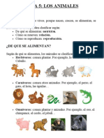 tema animales conocimento 3º primaria
