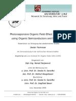 Photo Responsive Organic Field-Effect Transistors