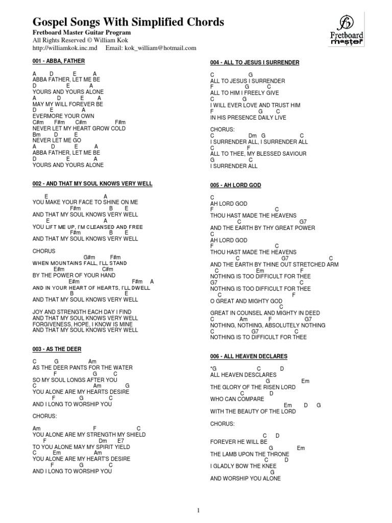 Gospel Songs Chords Part 2