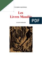 Aventure Mystérieuse Les Livres Maudits Jacques Bergier