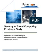 Security of Cloud Computing Providers