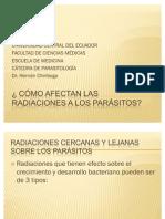Radiación en los parásitos