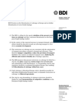 Position Paper Cabotage BDI