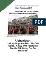 """Military Resistance 9E 17:""""No One Cares"""""""