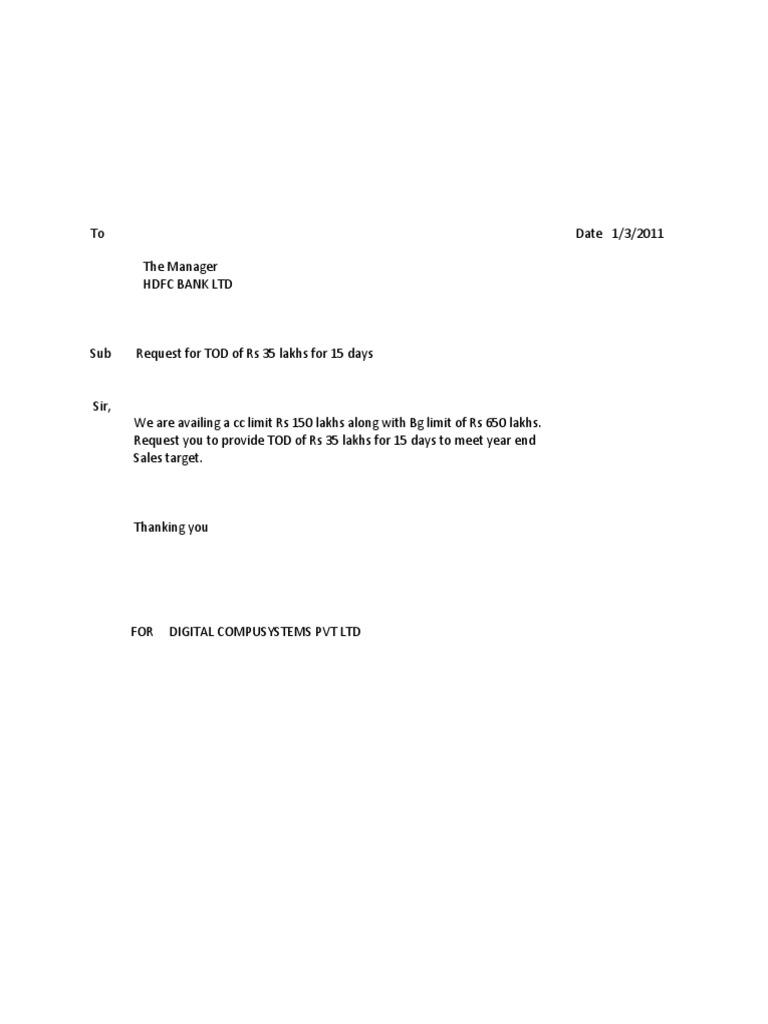 Letter Format For Bank Account Closing Pdf.  1523021002 v 1