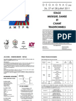 Stage Degagnac 2011 - Programme et Bulletin Inscription