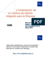 Selección e Implantación de un Sistema de Gestión Integrado
