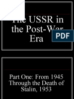 The USSR in the Post War Era (Cold War, Part Two)