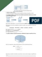Ficha de ciências 5º ano - água