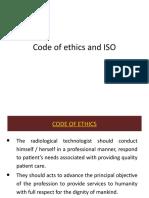 Code of Ethics and ISO