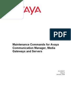 Maintenance Commands For Avaya Indemnity Technology