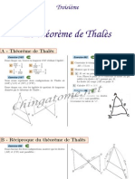 Chingatome-Troisième-Le théorème de Thalès