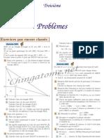 Chingatome-Troisième-Problèmes