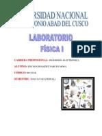 Informe 02 - Lab Oratorio Fisica I