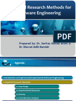 Empirical Research Methods for Software Engineering
