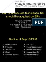 Top 10 Ultrasound Techniques That Should Be Acquired by Emergency Physicians