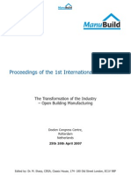 Manubuild First Conference Proceedings