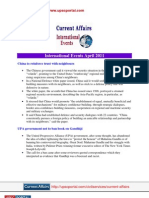 Current Affairs for IAS Exam 2011 International Events April 2011 Www.upscportal