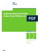 Implementing Sustainable Urban Travel Policies in China