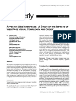 Liqiong, D., & Poole, M. (2010). Affect in Web Interfaces a Study of the Impacts