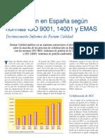 Informe Forum Calidad 2009 Certificaciones 9001_14001_EMAS
