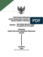 Kode Etik Dan Pedoman Perilaku Hakim MA KY