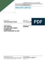 TYLER-WADDINGTON LIMITED  | Company accounts from Level Business