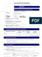 Ficha completa metanol