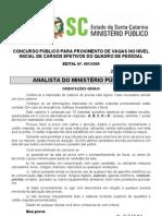 Analista Do Ministerio Publico