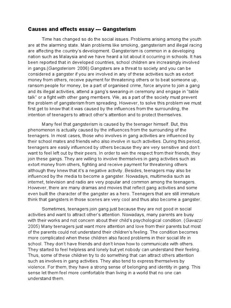 Gangsterism essay