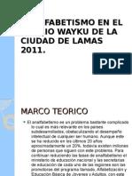 Analfabetismo en El Barrio Wayku de La
