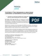 Telefónica y Vivo promueven el movilforum Conference Latinoamérica en Río de Janeiro