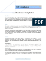 Cost Allocations and Trading Partner