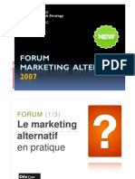 Cadrage Marketing Alter Nat If