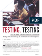 A. Varughese - 2005 - Testing, Testing
