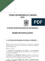 Fondo de Desarrollo Vecinal 2010