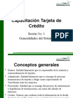 Capacitación Tarjeta de Crédito - Sesión No. 1