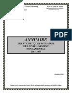 Statistiques de l'éducation au Mali_2002-2003