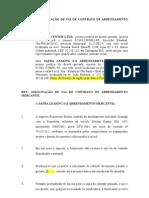 CARTA DE SOLICITAÇÃO DE VIA DE CONTRATO DE ARRENDAMENTO MERCANTIL