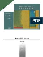 Plan y Programas de Estudio 1993. Primaria