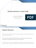 Disaster Recovery- A Case Study