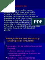 Politica concurenţei în U.E.